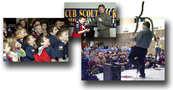 Your Michigan, Cub Scout Blue & Gold Banquet will be amazingly successful, memorable and fun - Guaranteed... when you book Michigan Magician Jeff Wawrzaszek. Call today!