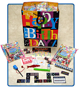 Magic goody bags to top off a wonderful  Michigan  kids birthday party magic show. Exclusively from a2magic.com